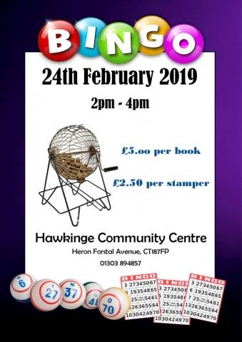 hawkinge community centre bingo