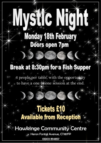 hawkinge community centre mystic night